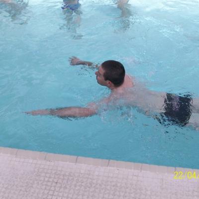 Marcel dans l'eau